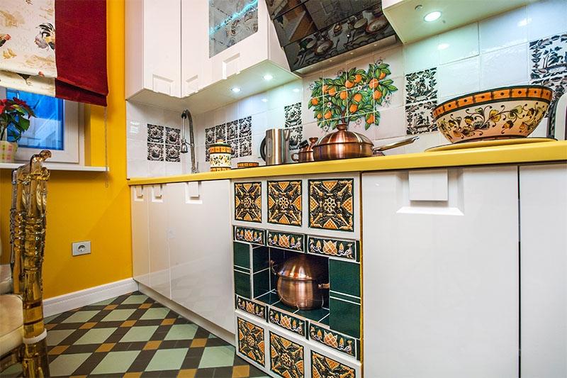 Плитка с рисунком для кухни