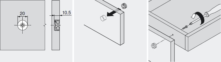 Установка фасада мебели