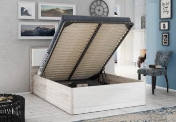 французская кровать с подъемным механизмом