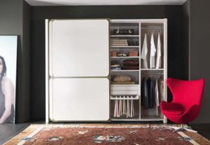 Дизайн спальни шкаф, натуральное дерево