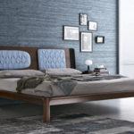 кровать модерн натуральное дерево