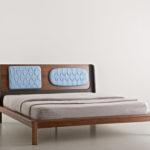 Кровать орех кожа