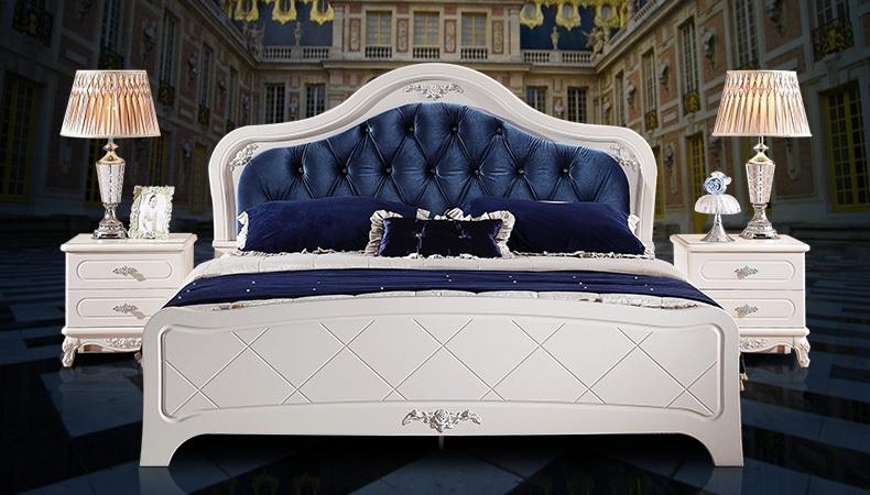 Классическая кровать мдф