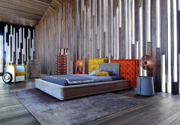 Кровать в стиле пэчворк