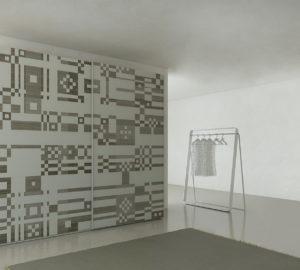 Пиксельный дизайн шкафа