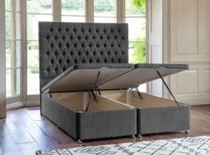 кровать с подъемным механизмом мягкая