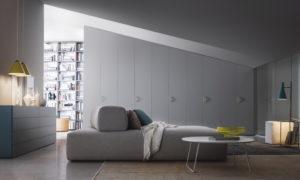 шкаф скошенный серый