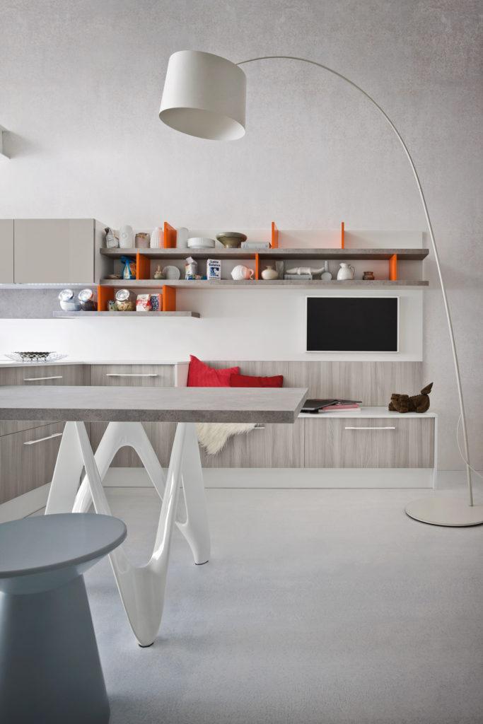 кухня с оранжевым акцентом от Ar Tre
