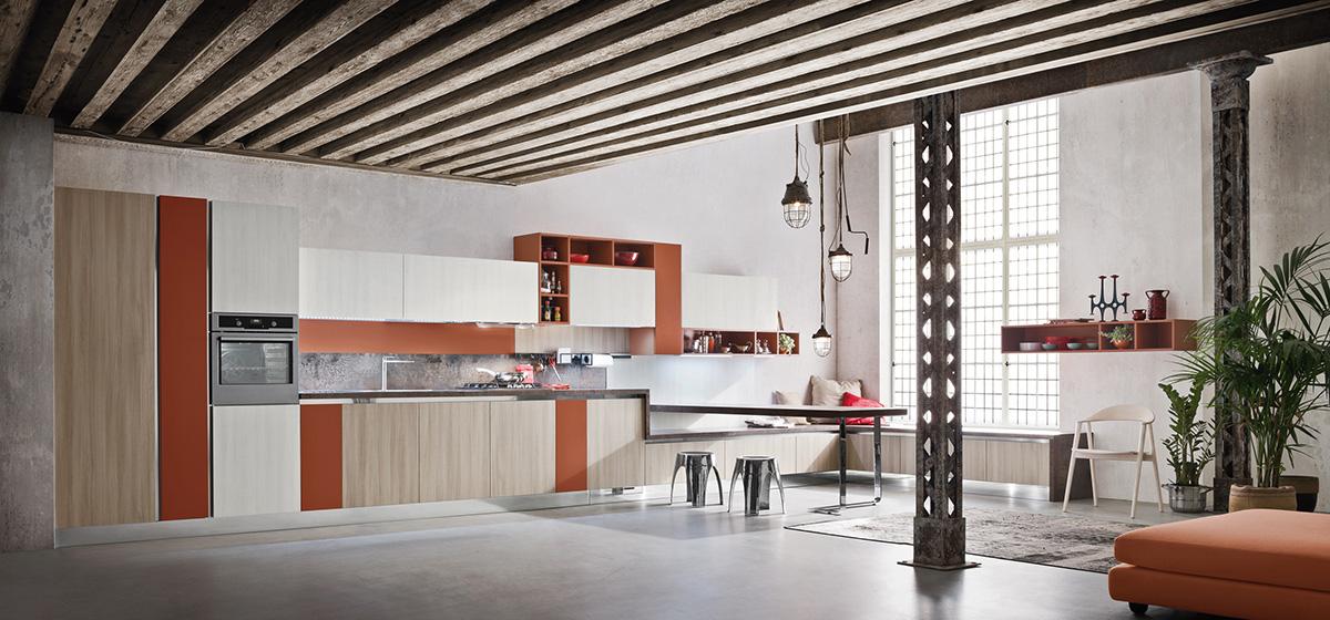 кухня с коричневым акцентом от Ar Tre