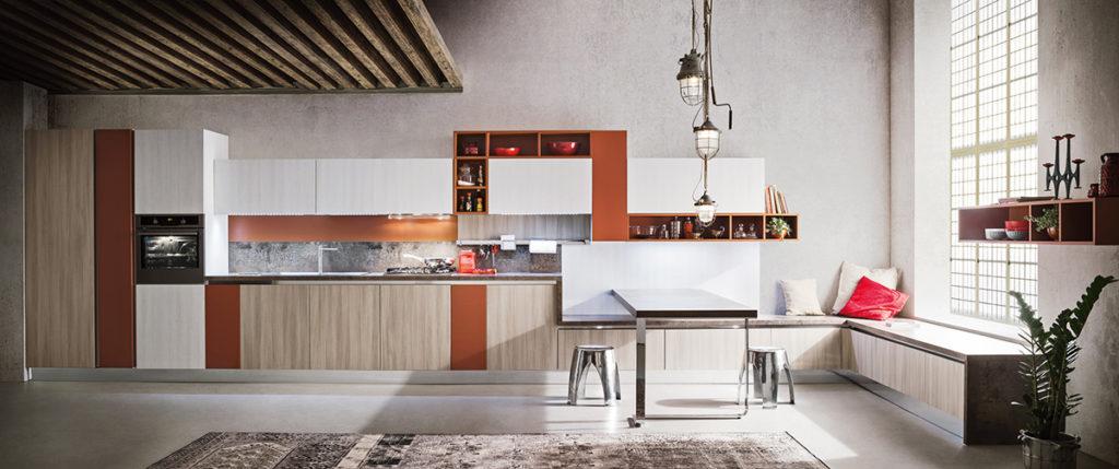 кухня с коричневым и белым акцентом от Ar Tre