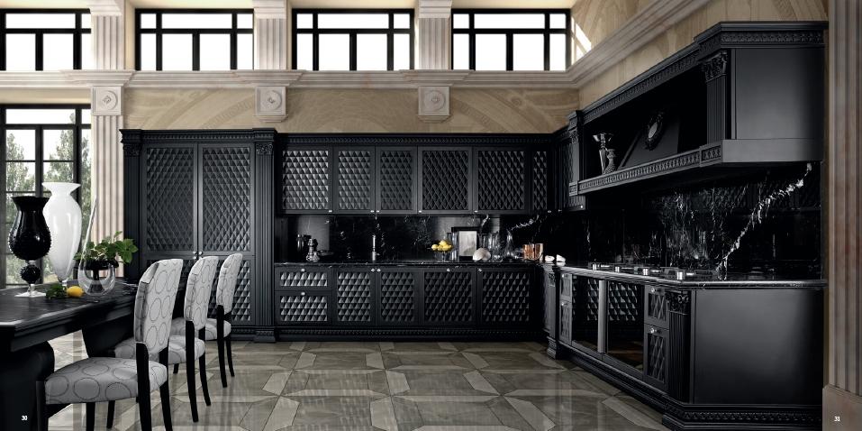черная кухня - 3d классика от Del Tongo