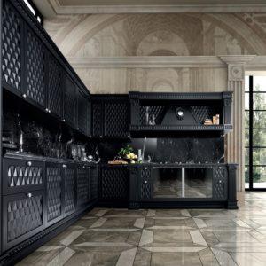 черная 3d классическая кухня от Del Tongo