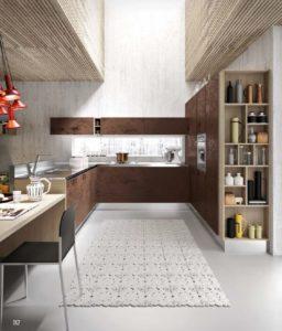 Бронзовая кухня с фасадом бетон от Aran