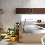Кухня с фасадом бетон от Aran - мойка