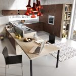 Кухня с фасадом бронзовый бетон от Aran