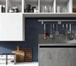 Кухня с фасадом бетон от Aran