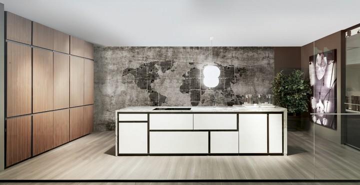 белая кухня - фасады без ручек