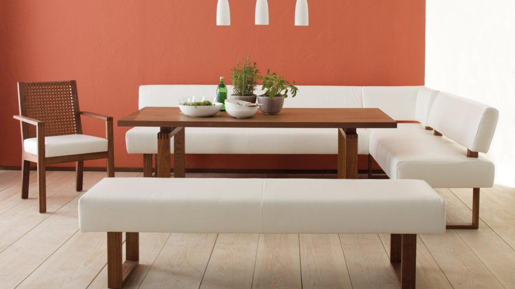 Белый Кухонный уголок – диван на кухню