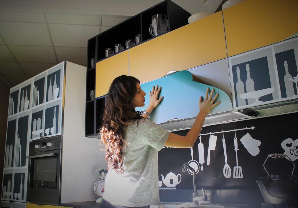 Фасад для кухни с фотопечатью 12