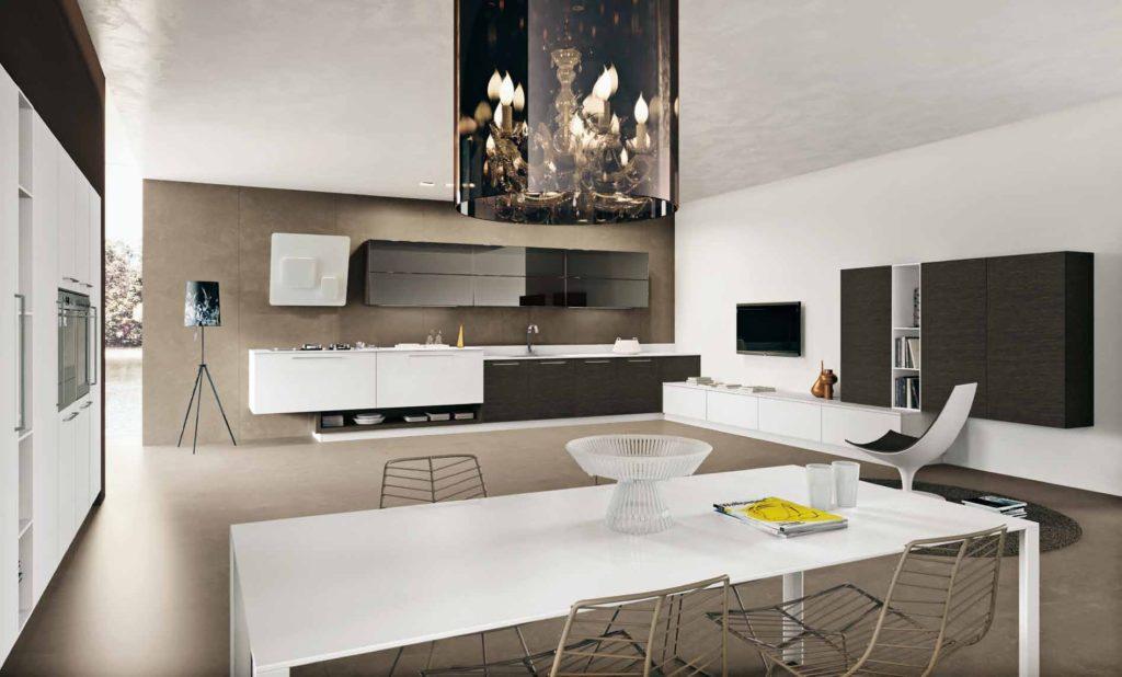 Кухня - контраст формы, цвета и отделки, Arritalcucine
