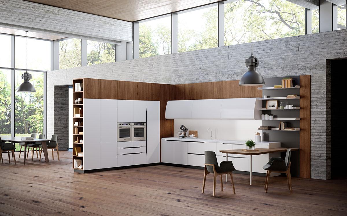 Белая кухня Miami Biefbi