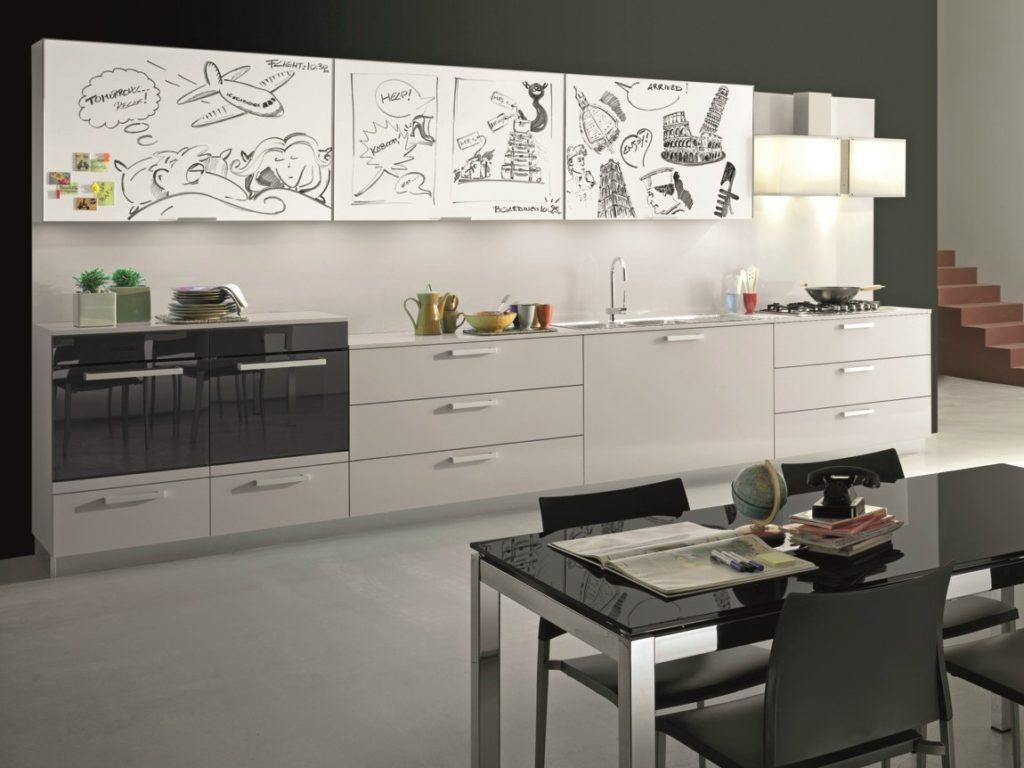 Кухня в магнитном пластике с рисунком