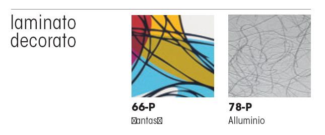 Фасады для кухни из пластика абстрактного дизайна, Del Tongo