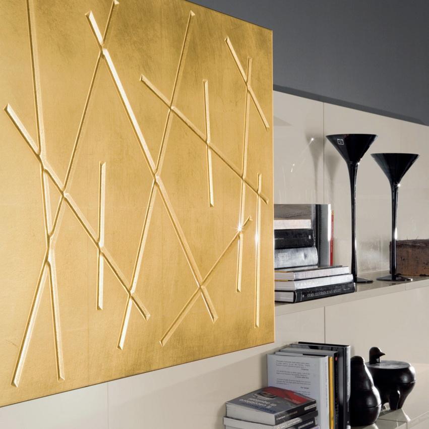 Золотой фасады металлическая фольга