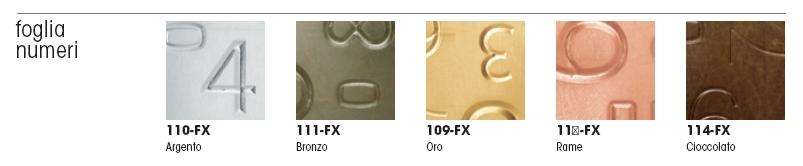 фасады металлическая фольга цифры