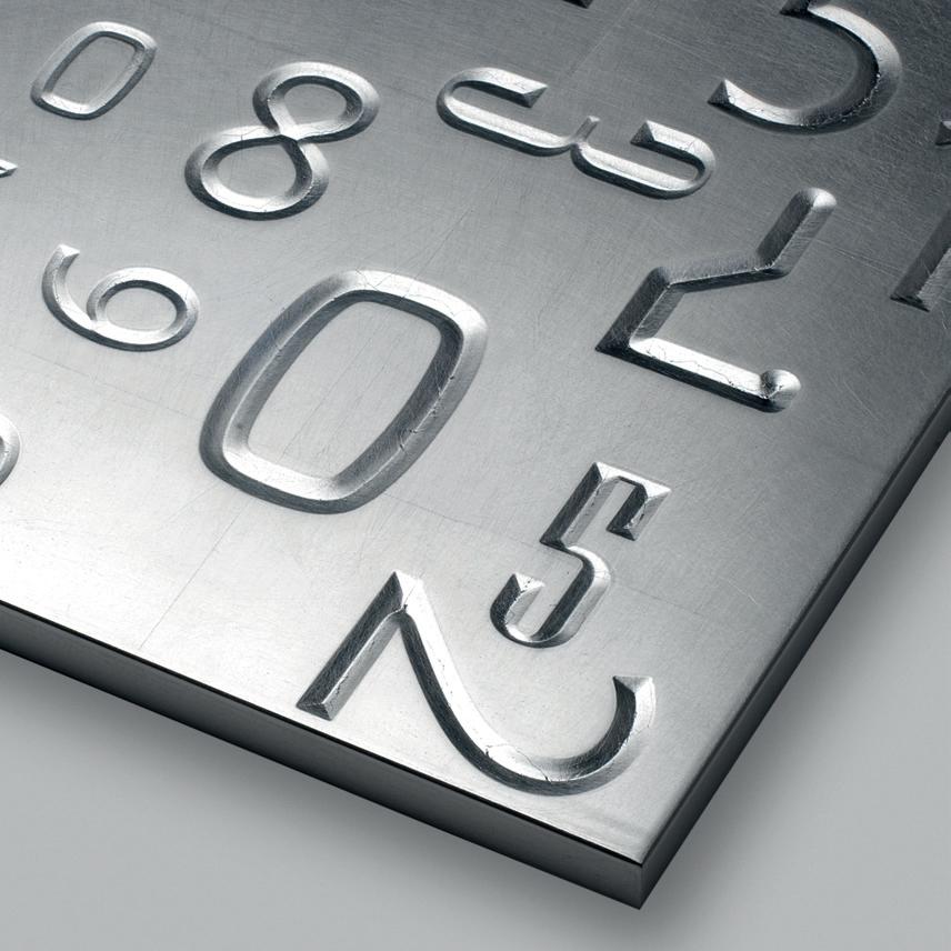фасады металлическая фольга с цифрами