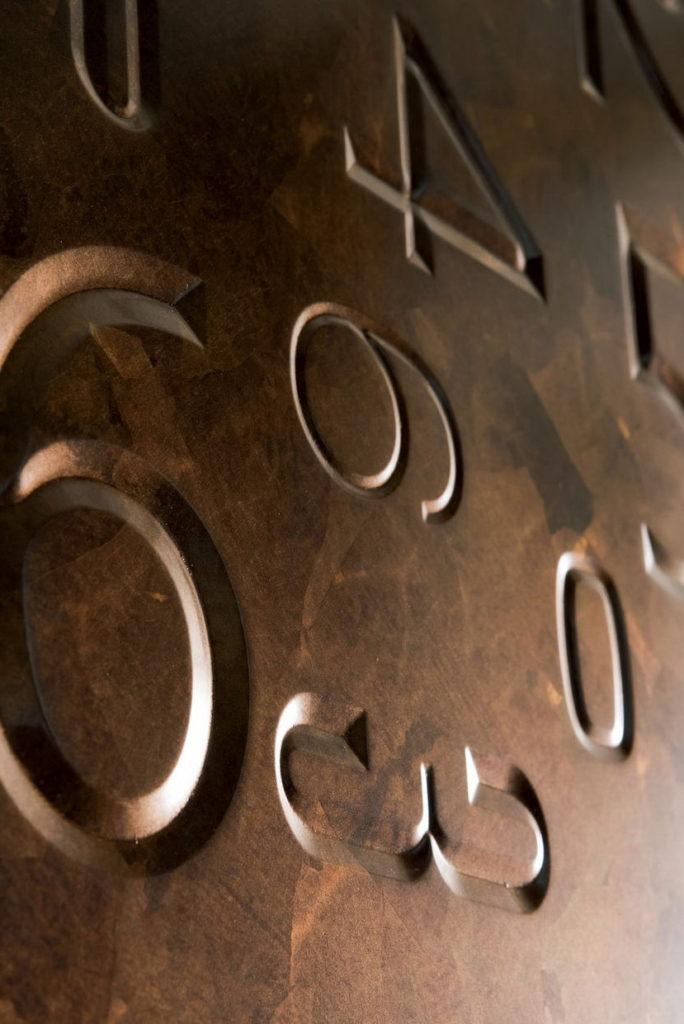 фасады металлическая фольга бронза цифры
