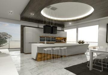 Кухня олива натуральное дерево