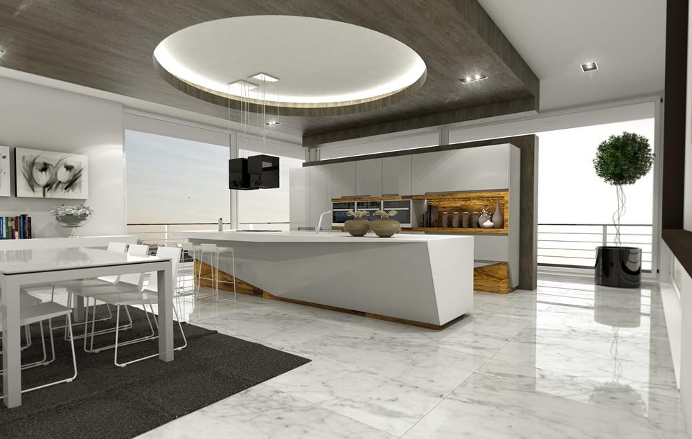 Дизайн кухни натуральное дерево олива