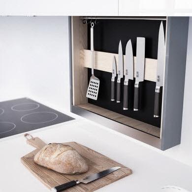 Гаджеты для кухни – выдвижная полка с ножами