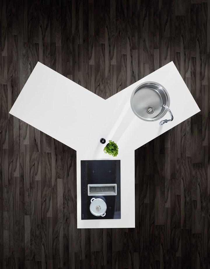 Мебельная выставка в Кельне 2017 – функциональная кухня белая