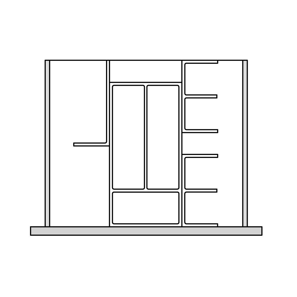 Кухня – органайзер для столовых приборов 7