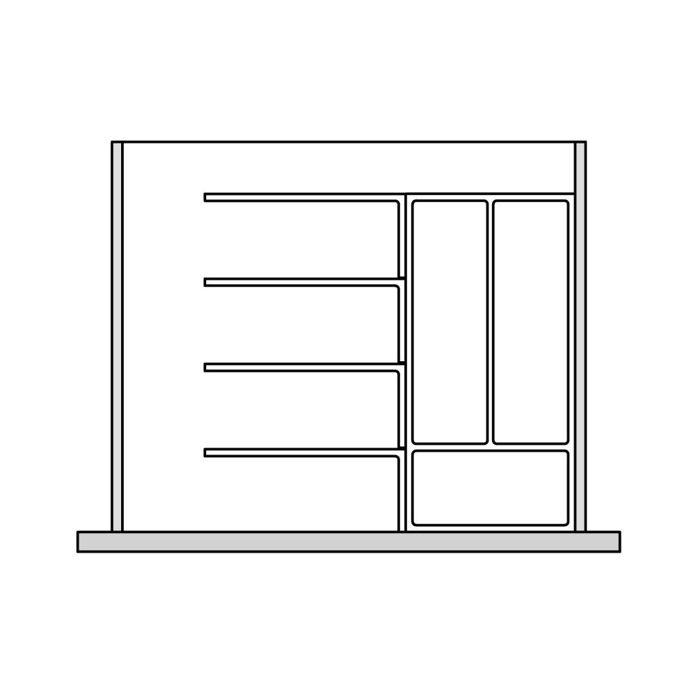 Кухня – органайзер для столовых приборов 1
