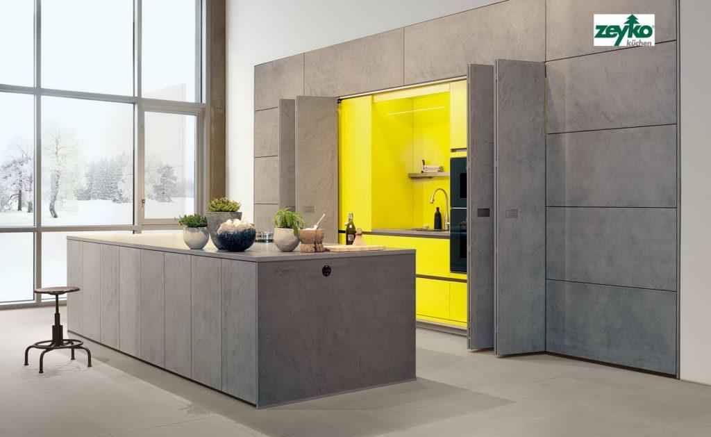 Кухня бетон
