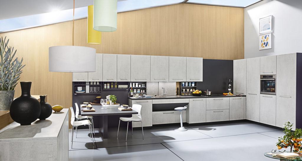 "Кухня в декоре ""бетон"""