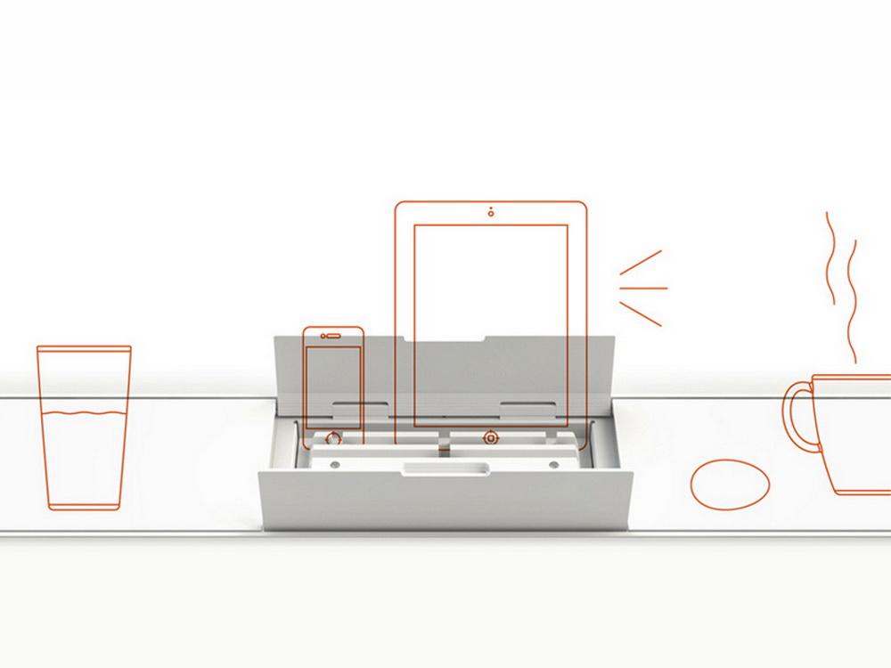 органайзеры хранение на кухне смартфон