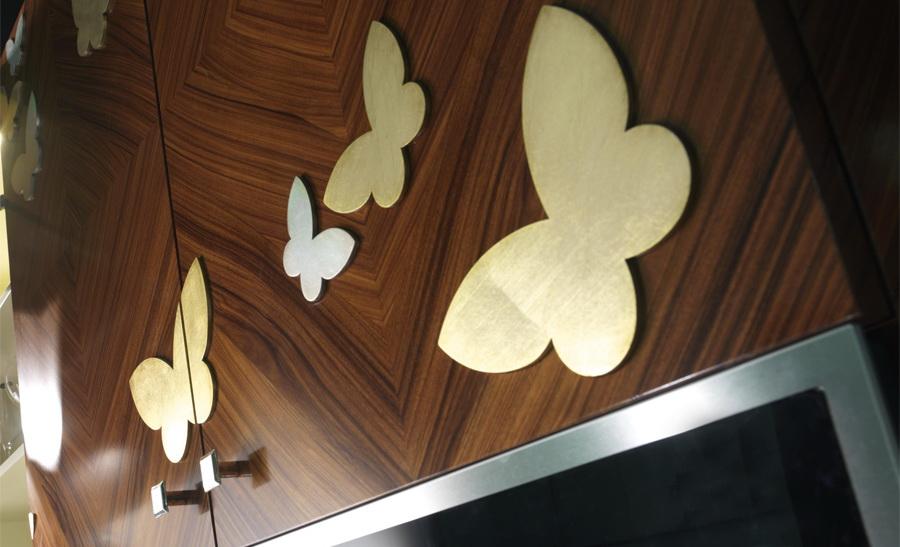 Бабочки Кухня арт-деко