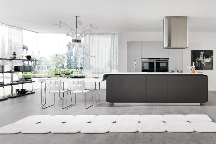 Остров кухня в стиле Хай-тек от Euromobil
