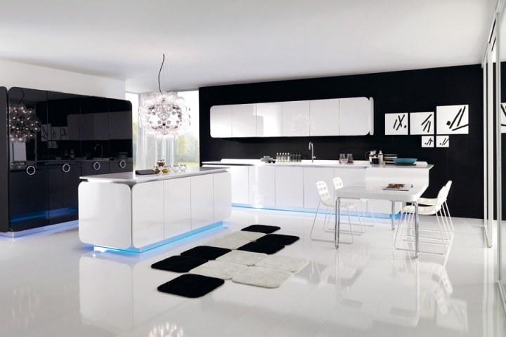 Белая кухня в стиле Хай-тек от Euromobil