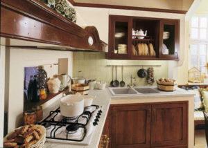 Кухня в стиле кантри угловая
