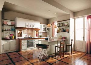Кухня в стиле кантри белая