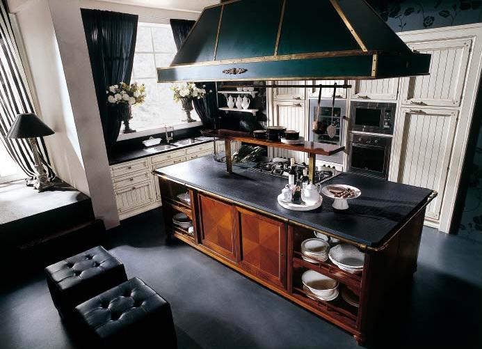 Кухня в стиле кантри остров
