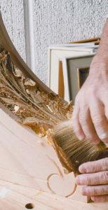 Дизайн с золотом кухня сусальное золото