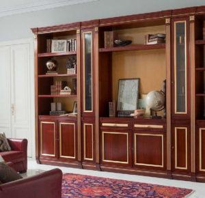 Дизайн с золотом шкаф