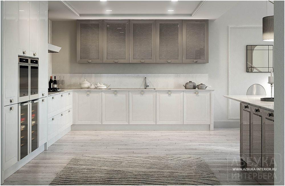 Кожаные фасады кухня белые