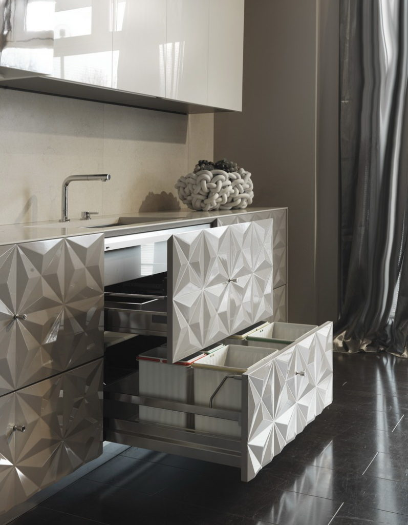 3D фасады для кухни ящики